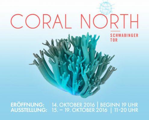 Ausstellungsplakat Coral North